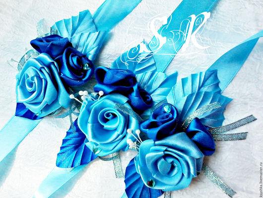 Свадебные украшения ручной работы. Ярмарка Мастеров - ручная работа. Купить Браслеты для подружек невесты. Handmade. Комбинированный, браслет на руку