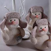 Подарки к праздникам ручной работы. Ярмарка Мастеров - ручная работа Наш Снеговик. Handmade.