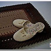 Для дома и интерьера manualidades. Livemaster - hecho a mano Alfombrilla de una manta a mano de punto de cordón Multicolor. Handmade.