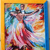 """Картины и панно ручной работы. Ярмарка Мастеров - ручная работа Картина """"Танец любви"""" вышитая крестом. Handmade."""
