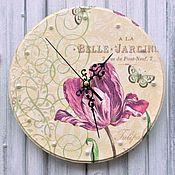 """Для дома и интерьера ручной работы. Ярмарка Мастеров - ручная работа Часы """" Тюльпан"""". Handmade."""