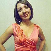 Одежда ручной работы. Ярмарка Мастеров - ручная работа блузка кружевная, блузка нарядная, блузка шелковая, блузка женская. Handmade.