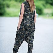 Одежда handmade. Livemaster - original item Womens camouflage Romper, Jumpsuit cotton. Handmade.