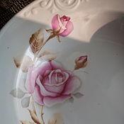 Винтаж handmade. Livemaster - original item Vintage plates: soup plates porcelain. Handmade.
