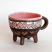 """Посуда ручной работы. Ярмарка Мастеров - ручная работа Чашка """"Сердечки розовые"""". Handmade."""