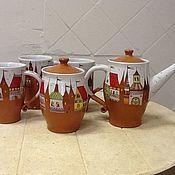 """Посуда ручной работы. Ярмарка Мастеров - ручная работа Сервиз """"Старый город"""". Handmade."""