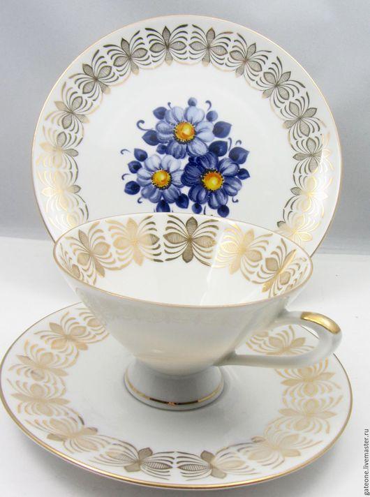 Винтажная посуда. Ярмарка Мастеров - ручная работа. Купить Winterling  Чайное трио ФИАЛКИ. Handmade. Немецкий фарфор, европейский фарфор