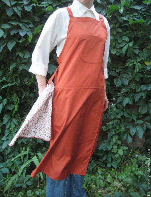 potters apron with ultimate coverage ceramic artist apron painter`s apron Непромокаемый фартук для работы за гончарным кругом