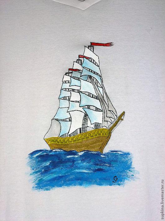 футболка, футболка  с рисунком, футболка на заказ, футболка с росписью, футболка с изображением, футболка детская, футболка мужская, подарок на день ВМФ, день военно-морского флота, подарок моряку