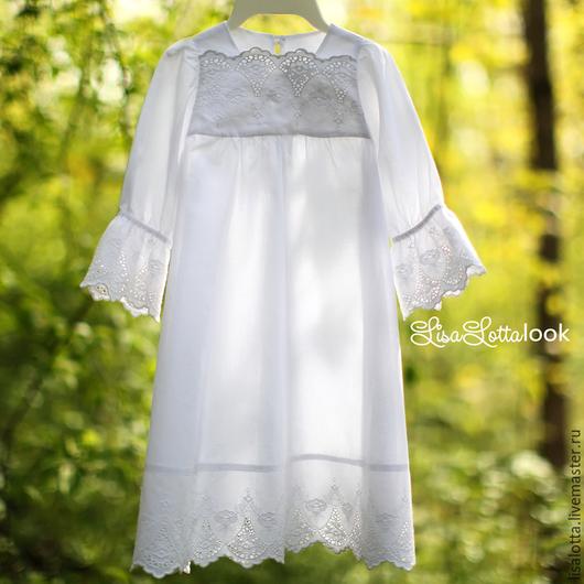 Крещение Платье для крещения Платье для крещения ручной работы Крестильное платье Ольга