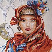"""Картины и панно ручной работы. Ярмарка Мастеров - ручная работа Вышивка крестом """"Венецианская маска"""". Handmade."""