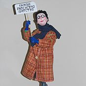 """Куклы и игрушки ручной работы. Ярмарка Мастеров - ручная работа """"Водолей"""" (проект """"Знаки Зодиака в бабках"""" по рисункам Ольги Громовой. Handmade."""