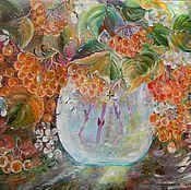 """Картины и панно ручной работы. Ярмарка Мастеров - ручная работа Маленькая картина """"Осень"""" натюрморт. Handmade."""
