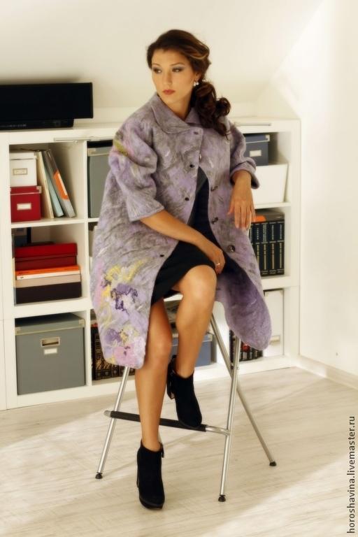 """Верхняя одежда ручной работы. Ярмарка Мастеров - ручная работа. Купить Пальто """"lavande magie"""". Handmade. Пальто, гусиная лапка"""