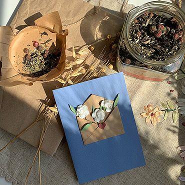 Сувениры и подарки ручной работы. Ярмарка Мастеров - ручная работа Открытка «Лавандовый флёр». Handmade.