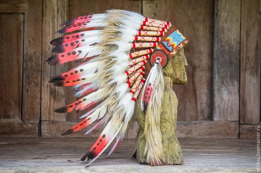 """Новый год 2017 ручной работы. Ярмарка Мастеров - ручная работа. Купить Детский индейский головной убор - Роуч """"Крадущийся Тигр"""". Handmade."""
