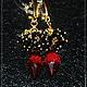 """Заказать позолоченные серьги """"Цвета страсти"""". Анечка Константинова (buduart-anny). Ярмарка Мастеров. . СерьгиФото №3"""
