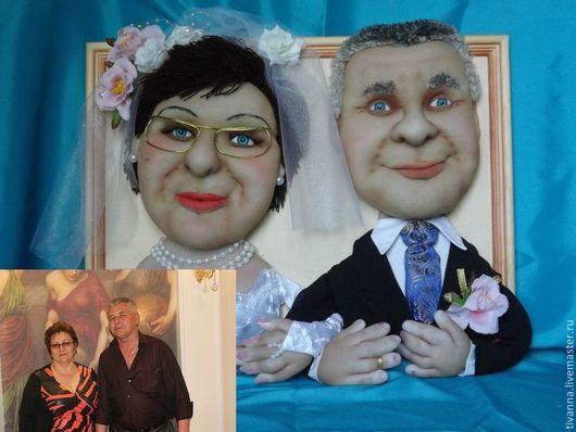 Портретные куклы ручной работы. Ярмарка Мастеров - ручная работа. Купить Куклы по фото. Свадебный портрет. Handmade. Чёрно-белый