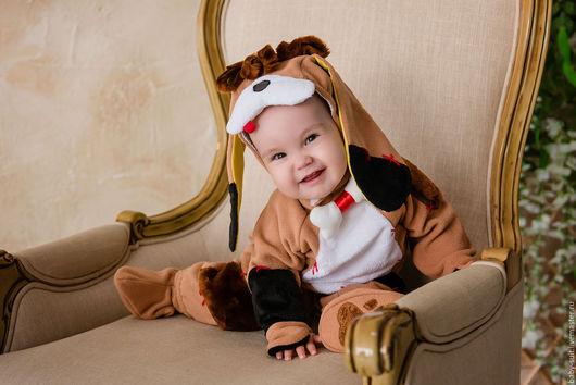 Карнавальный новогодний костюм Щенка для малышей и детей