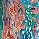 """Шарфы и шарфики ручной работы. Ярмарка Мастеров - ручная работа. Купить Шарф """"Коралловый"""". Handmade. Орнамент, модный аксессуар"""