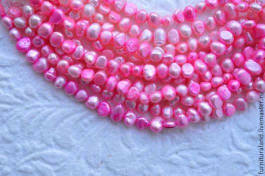 Для украшений ручной работы. Ярмарка Мастеров - ручная работа. Купить Барочный жемчуг розового цвета на нити.. Handmade. Розовый
