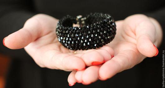 """Браслеты ручной работы. Ярмарка Мастеров - ручная работа. Купить Браслет """"Королева ночи"""". Handmade. Черный, браслет на руку"""