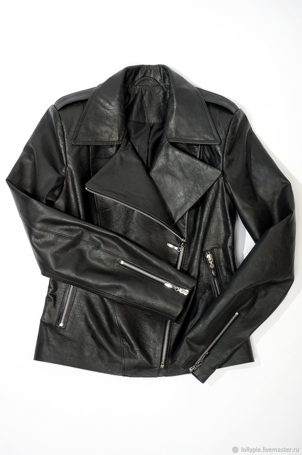 Women's leather jacket with wings black, Outerwear Jackets, Moscow,  Фото №1