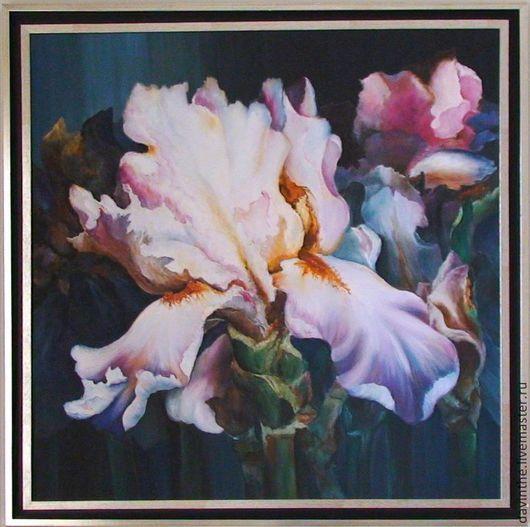 """Картины цветов ручной работы. Ярмарка Мастеров - ручная работа. Купить Картина маслом """" Iris """". Handmade. Холст"""