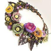 Украшения handmade. Livemaster - original item Fairy Of The Spring Wind. Necklace, flowers made of fabric.. Handmade.