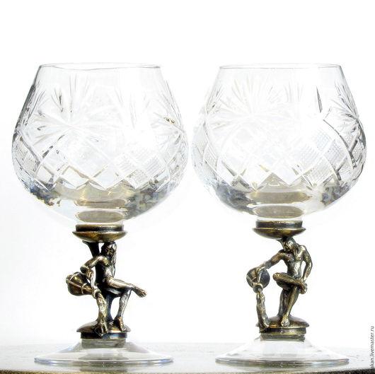 """Бокалы, стаканы ручной работы. Ярмарка Мастеров - ручная работа. Купить Бокалы """"ВОДОЛЕЙ"""" набор из 2х предметов. См. описание.. Handmade."""