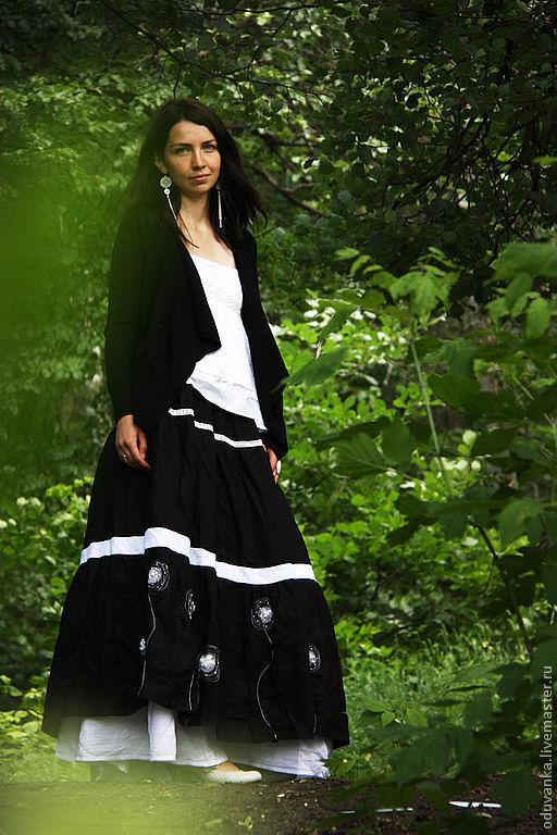 """Юбки ручной работы. Ярмарка Мастеров - ручная работа. Купить Длинная юбка """"Легче одуванчика"""". Handmade. Длинная юбка, одуванчик"""