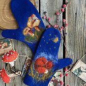 Аксессуары handmade. Livemaster - original item Mittens: Chanterelles. Handmade.