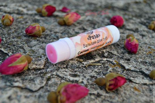"""Бальзам для губ ручной работы. Ярмарка Мастеров - ручная работа. Купить Бальзам для губ """"Роза"""". Handmade. Розовый"""