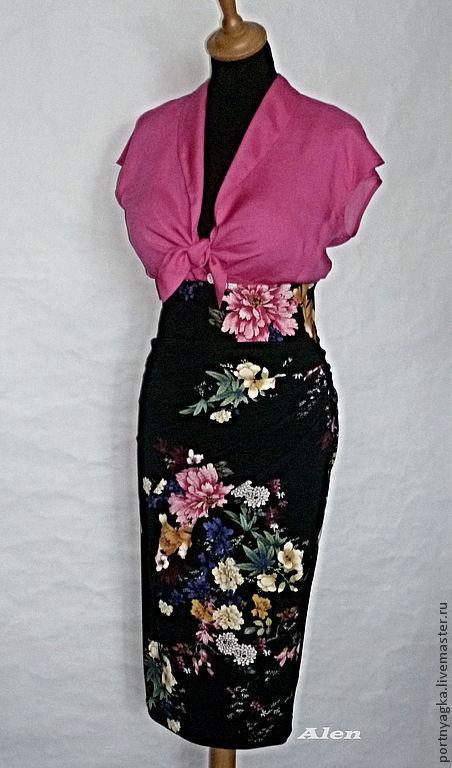 Юбки ручной работы. Ярмарка Мастеров - ручная работа. Купить Комплект Сицилия(юбка+блузка). Handmade. Цветочный, хлопок