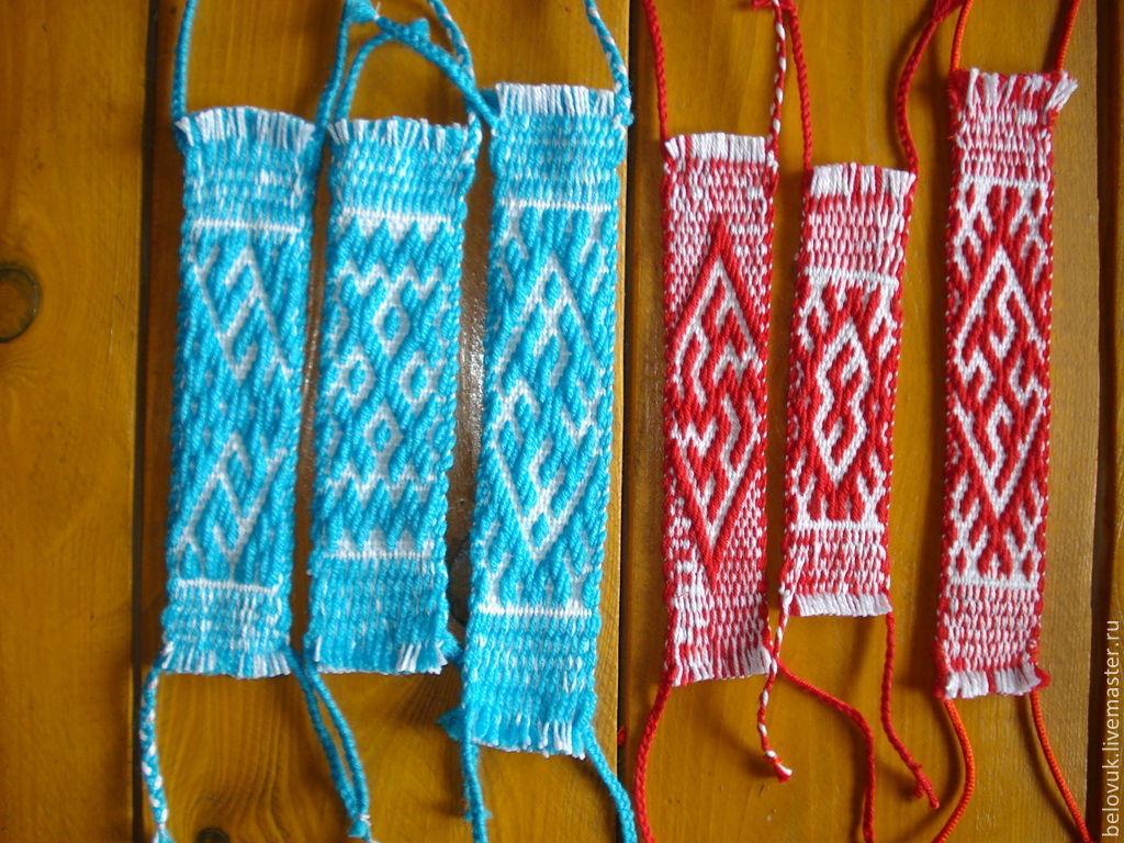 схема плетения пояса на бердышке в бранной технике