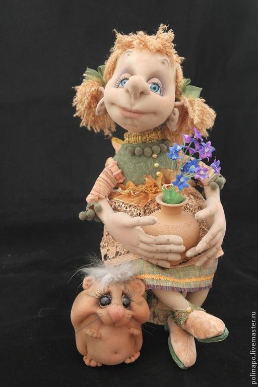 Сказочные персонажи ручной работы. Ярмарка Мастеров - ручная работа. Купить Маленькая фея. Handmade. Кукла ручной работы, кукла