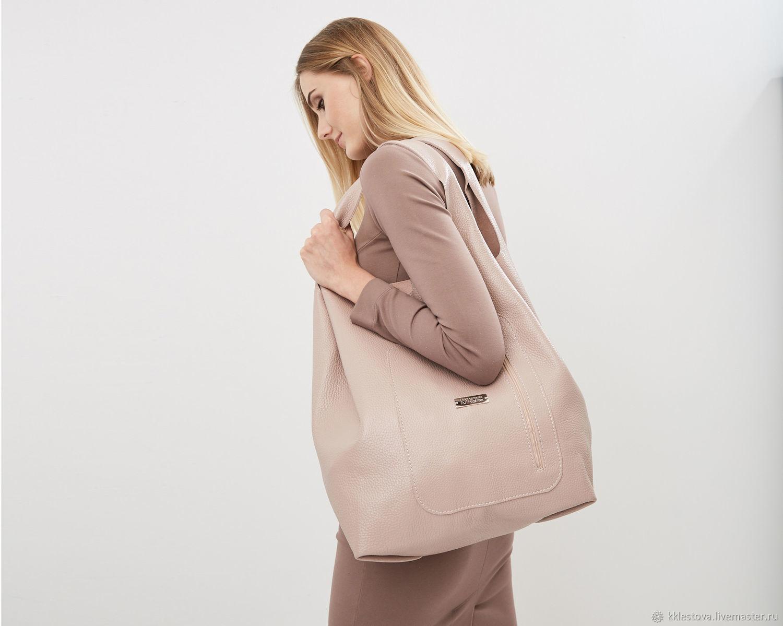 Handbags handmade. Livemaster - handmade. Buy Pink tote Bag large leather bag shopper Bag t-shirt Bag.