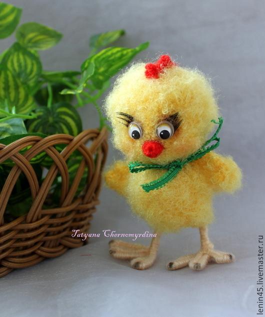 Игрушки животные, ручной работы. Ярмарка Мастеров - ручная работа. Купить Цыплёнок на Пасху. Handmade. Желтый, Вязание крючком