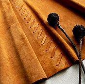 Skirts handmade. Livemaster - original item Suede skirt Golden brown. Handmade.