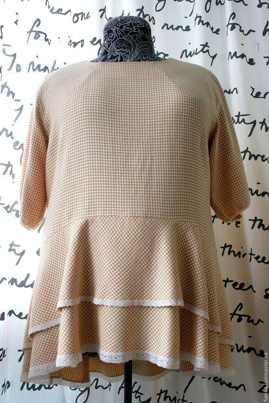 Большие размеры ручной работы. Ярмарка Мастеров - ручная работа. Купить Блуза. Handmade. Бежевый, бохо-стиль