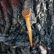 """Украшения ручной работы. Ярмарка Мастеров - ручная работа шпилька для волос деревянная резная """"Березовый гвоздь"""" авторская. Handmade."""