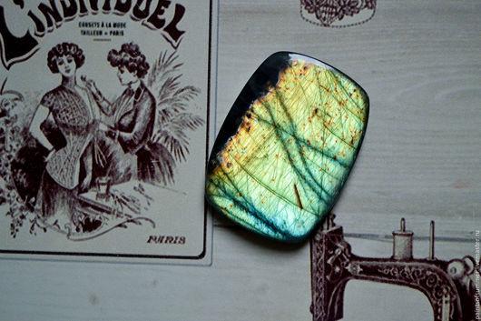Для украшений ручной работы. Ярмарка Мастеров - ручная работа. Купить Лабрадорит спектролит. Кабошон 47 Х 35 Х 5. Handmade.