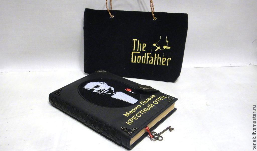 Персональные подарки ручной работы. Ярмарка Мастеров - ручная работа. Купить Подарочная книга кожаный переплет КрестныйОтец Подарок мужчине юбиляру. Handmade.