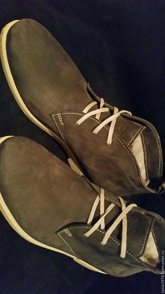 Обувь ручной работы. Ярмарка Мастеров - ручная работа. Купить Дезерты мужские. Handmade. Дезерты, кожа, мех натуральный