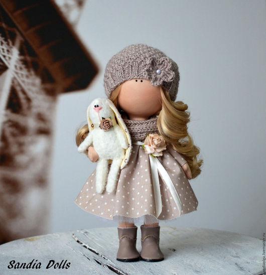 Куклы тыквоголовки ручной работы. Ярмарка Мастеров - ручная работа. Купить Женечка. Handmade. Коричневый, кукла для девочки