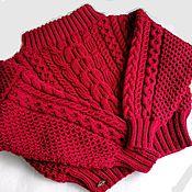 Одежда handmade. Livemaster - original item Sweater Ruban. Sweater with open shoulders. Handmade.