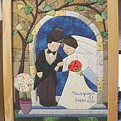 """Картины и панно ручной работы. Ярмарка Мастеров - ручная работа Картина в лоскутной технике """"Свадьба"""". Handmade."""