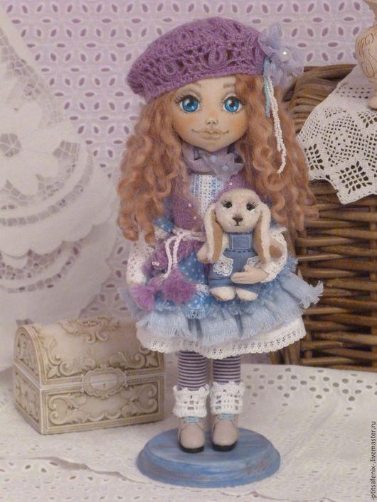 Коллекционные куклы ручной работы. Ярмарка Мастеров - ручная работа. Купить Интерьерная текстильная кукла Камилла. Handmade. Сиреневый