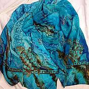 Аксессуары handmade. Livemaster - original item Scarf batik silk