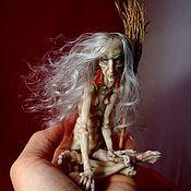 Шарнирная кукла ручной работы. Ярмарка Мастеров - ручная работа Шарнирная кукла Ядвига ( Баба Яга). Handmade.